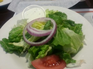 House salad with Ranch